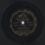 78 rpm of the D'Arienzo Don Esteban recording take 2