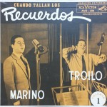 "7"" vinyl Aníbal Troilo RCA Victor AVE-190, one of RCA's early vinyls, extended-play, is a reissue of Troilo Marino, initially published as shellac"